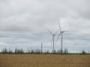 PEI Had many wind electric generators all across the island. It is an island of rolling hills, beautiful coast lines and beautiful farms.