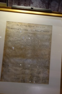 One of the original, signed copies on display in Philadelphia