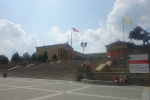 Philadelphia Museum of Art.  Absolutely the most impressive art museum building we have seen to date... and we have seen many. These are the steps Rocky Balboa (Sylvester Stallone) ran up and down in his training.