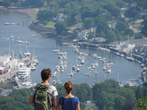 A view of Camden Bay from atop Mount Battie