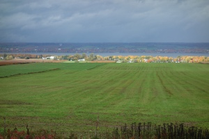 Beautiful farm land on the St. Lawrence