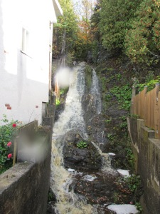 Water fall next to our B&B in Riviere-du-Loup