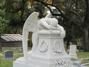 Grieving Angel in Glenwood Garden, Houston