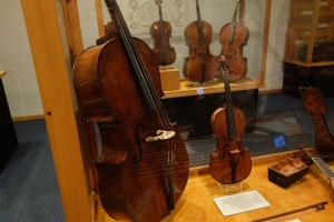 Rare Cello, Violin and bow by Antionio Stradivari.
