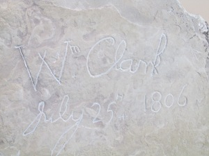 William Clark's signature in the rock