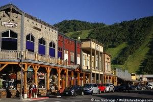 Downtown Jackson, near Grand Teton National Park, Wyoming.