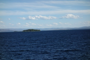 Yellowstone Lake, view from the lodge