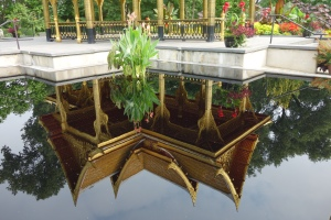 Pavilion reflected
