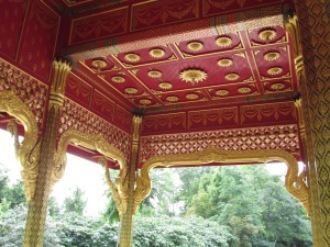 Pavilion ceiling, REAL gold leaf.