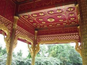 Pavilion ceiling, REAL gold leaf.