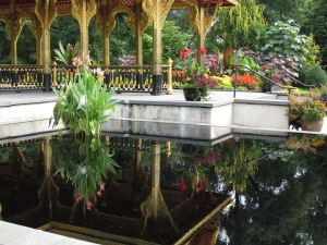 Pavilion reflected