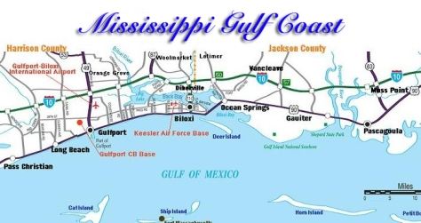 mississippi gulf coast map large