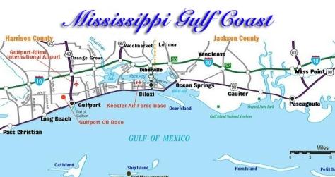 mississippi gulf coast map large